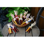 Additional Images for Decorative Dried Accents Miniature Indian Corn (20 bunches of 3)